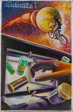 Robert Yarber Auto-Medicate 2012 Colored pencil, pastel, ink on paper 101,5 x 66 cm