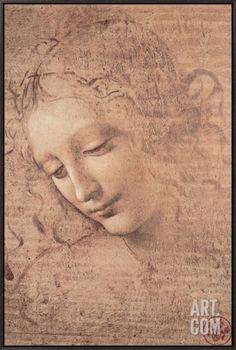 FEMALE HEAD LA SCAPIGLIATA by Leonardo Da Vinci Matt//Glossy//Canvas Paper A4//A3