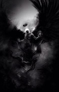 Dark engel story inspiration: random in 2019 dark fantasy art, fantasy art, Dark Angels, Angels And Demons, Angel Warrior, Fantasy Warrior, Dark Fantasy Art, Fantasy Artwork, Demon Artwork, Grim Reaper Art, Beautiful Dark Art