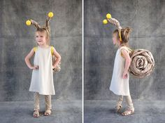39 Last-Minute DIY Halloween Costume Ideas for Kids Quick and easy snail costume is a fun last minute diy project! Best Diy Halloween Costumes, Halloween Kids, Halloween Crafts, Infant Halloween, Creative Costumes, Easy Homemade Costumes, Snail Costume, Bug Costume, Medusa Costume