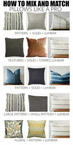 Couch Pillows 706502260277422394 - How to master the perfect pillow combinations: 10 no fail combinations and tips to easily mix and match throw pillows like a pro! Living Room Throws, Home Living Room, Living Room Designs, Living Room Decor, Bedroom Decor, Wall Decor, Couch Furniture, Living Room Furniture, Furniture Ideas