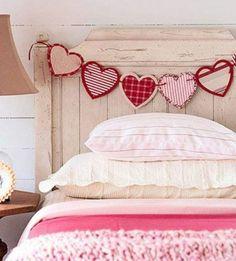 chambre décorée pour la Saint Valentin