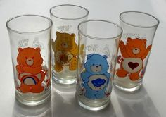 Pizza Hut Care Bears glasses.  I had, then broke, then replaced all four of these.  Years later, I learned through the powers of the Internet that there is a mythical Good Luck Bear glass that they only sold regionally.  (Maybe in Missouri?)  I mostly use them to drink rum and cokes now.