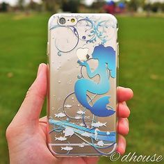 *** MADE IN JAPAN ***Soft Clear TPU Case Mermaid Blue for iPhone 6 & iPhone 6s