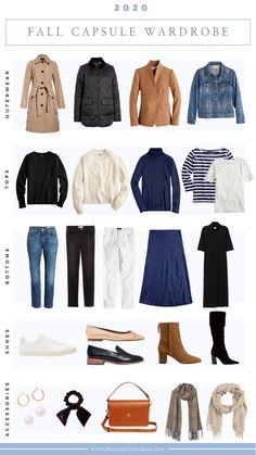 Classic Fall Capsule Wardrobe Guide | 2020 Fall Fashion Staples + Outfits Capsule Wardrobe Work, Capsule Outfits, Fashion Capsule, Mode Outfits, Fall Travel Wardrobe, Fall Travel Outfit, Wardrobe Staples, Fall Fashion Staples, Fall Fashion Outfits