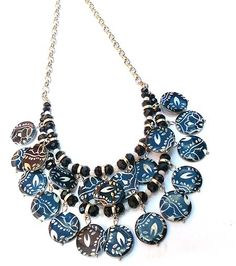 Tutorials | Clustered Beaded Printed Shell Necklace | Beading & Jewellery Making Tutorials