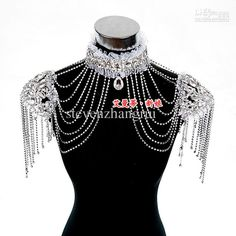 Wholesale New Style Epaulet Jacket Crystal Jewelry Necklace Earrings Sets Wedding Bridal Dresses Dress Gown, Free shipping, $61.6-74.98/Piece | DHgate