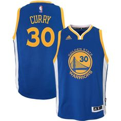 adidas Toddler Golden State Warriors Steph Curry  30 Road Royal Swingman  Jersey 3a14caa4a