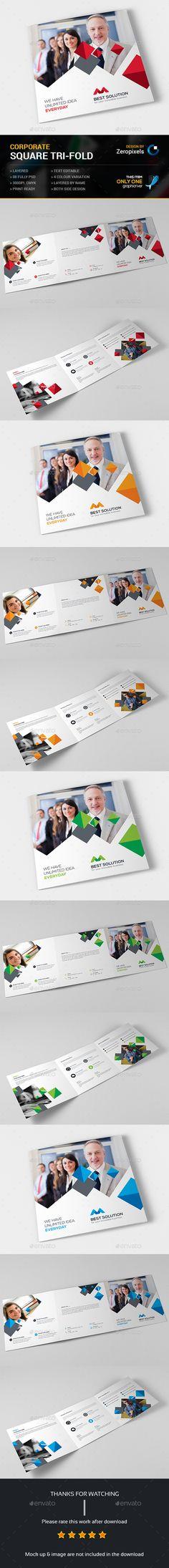 Square Tri-fold Brochure Template PSD. Download here: http://graphicriver.net/item/square-trifold-brochure/14885953?ref=ksioks