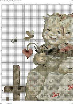 """Coquettes"" Hummel cross stitch - pattern"