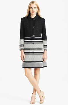 Missoni Long Intarsia Knit Jacquard Coat available at #Nordstrom
