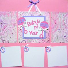Premade Scrapbooking Layout Baby Girl 12x12 Scrapbook Pages via Etsy