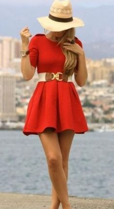 A cute red dress for #valentines day! Cute outfit