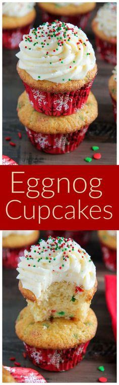 One-Bowl Eggnog Cupcakes