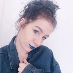 Everything is blue   Halsey inspired makeup, as I'm going to her gig on Saturday. 'Bluelips'