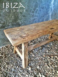 oud teak houten bankje | by Ibiza Outdoor