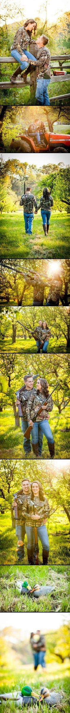 Country Duck Hunting Camo Engagement Pictures