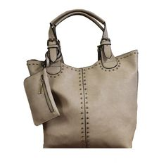 """Faina"" 3-in-1 Studded Tote"