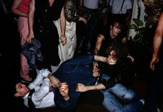 Chris Steele-Perkins A fight in a night club. London, England. 1989