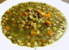 Pomalý hrnec: Hrstková polévka v pomalém hrnci Crockpot, Beans, Baking, Vegetables, Cook, Fine Dining, Slow Cooker, Bakken, Vegetable Recipes