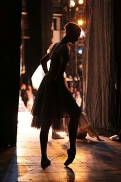 Ballerina waiting in the wings