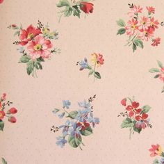 vintage flower wallpaper | Vintage FLORAL Wallpapers * c1940s | Our Cottage Garden