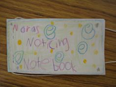 persuasive letter writing tool (noticing notebook)