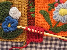 Ravelry: dbkn5's Embroidered Tunisian-Square Sweater Coat reconstruction