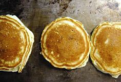 Handsdown, the absolute BEST pancake recipe I have ever tried. My family adores them, and they have become a dinner staple. We sprinkle them with cinnamon sugar and add blueberries to ours as well.
