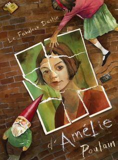 """The Fabulous Destiny of Amelie Poulain"" ""Life is a journey that lead you to find out the missing pieces to complete the puzzle. Audrey Tautou, Destin, Alternative Movie Posters, Movie Poster Art, Music Film, Illustrations, Cool Posters, French Art, About Time Movie"