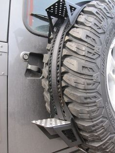 land rover defender ladder wheel cover - Google Search