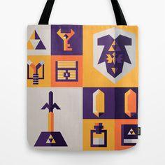 Legend of Zelda Items Tote Bag by Ann Van Haeken - $22.00