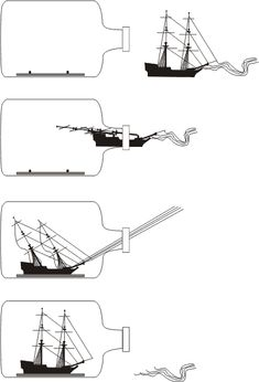 ⊰⛵Ship in a Bottle . How to place a Ship in a bottle! Boat In A Bottle, Ship In Bottle, Wooden Speed Boats, Wooden Boats, Model Ship Building, Boat Building, Christopher Columbus Ships, Uss Constitution Model, Build Your Own Boat