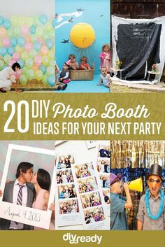 These DIY photo booth ideas will make your next party way more fun! Rally up your family and friends and choose from one of these snapshot-worthy picks! Diy Party Photo Booth, Pink Gold Birthday, Chinese New Year Party, Bbq Party, Partys, Easy Diy Crafts, Diy Wedding, Trendy Wedding, Wedding Blog