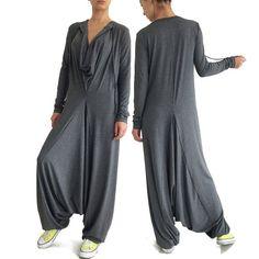 c2082248c4544 AUTUMN drop crotch jumpsuit. Baggy JumpsuitPlus Size JumpsuitConvertible  ClothingDrop Crotch PantsHarem ...