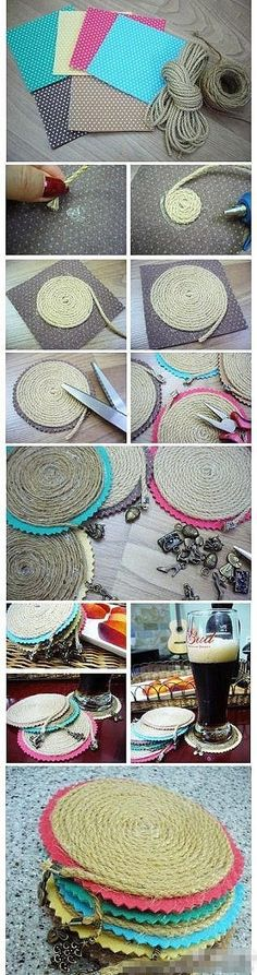 Fashion Craft: DIY: Sousplat de Corda