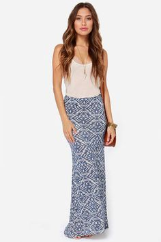 Billabong Back on Top Skirt - Southwest Print Skirt - Maxi Skirt - $44.00