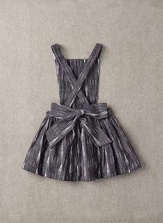 Nellystella Ella Dress in Black & White Ikat