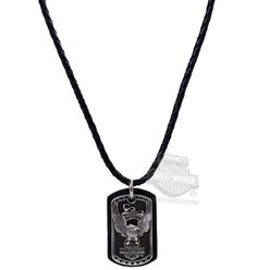 Harley-Davidson®   HDMNK10414   Harley-Davidson® Mens Everlast Upwing Eagle B&S with Banner Pendant by LODIS