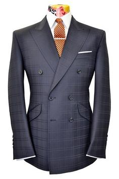 The Mollison Prussian Blue Suit with Shadow Windowpane Check