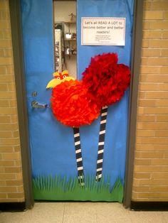 March is Reading Month door decor- next year's Seuss door or bulletin board idea!