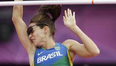 Fabiana Murer não passa de 4,55m e está fora dos Jogos de Londres