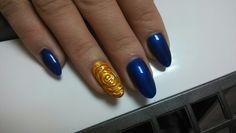 Golden rose#nails