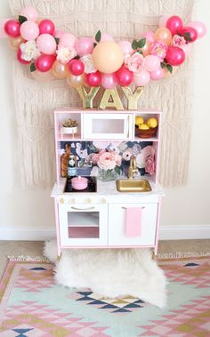 I had so much fun with this D.I.Y. for Eden's Birthday gift. I stumbled across a made over play kitchen on Pinterest a few months ago and knew right away ...