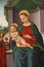 Orazio Alfani, Madonna col Bambino e santi, Perugia, ab. S. Pietro.