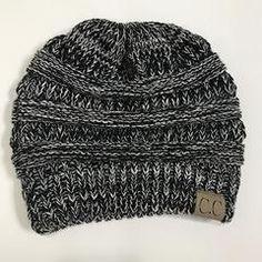 BONJEAN Adult Gorro new hat Women s Stretch Knitted Slouch Cc Beanie bonnet  Ponytail fashion female winter fbb828629c8