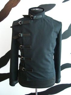 Awesome men's Buckle Jacket by supernalclothing on Etsy, $95.00... I'd definitely be tailoring it to fit me,