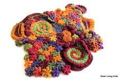 Free Form Crochet Stitches Tutorials | Freeform crochet, bullion stitch, surface crochet
