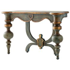 Made of wood, this Cyan Design Lacroix Console Table will pique the interest of any guest you have in your home areas. This console table is available in an antiquarian blue finish. Manufacturer Model number(s) 06595 . Hooker Furniture, Table Furniture, Painted Furniture, Furniture Ideas, Country Furniture, Floral Furniture, Repainting Furniture, Funky Furniture, Recycled Furniture