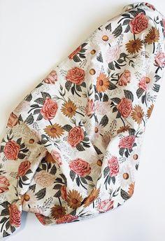 Vintage Flowers, Vintage Floral, Etsy Vintage, Muslin Baby Blankets, Swaddle Blanket, Toned Girls, Quilted Baby Blanket, Gold Nursery, Quilting For Beginners